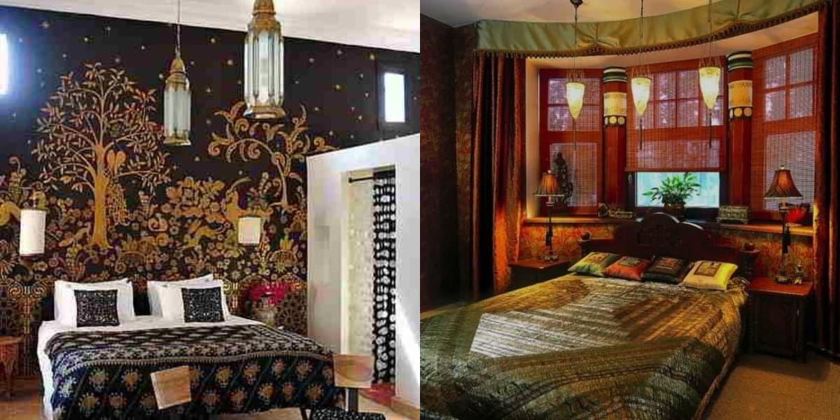 Спальня в арабском стиле: светильники