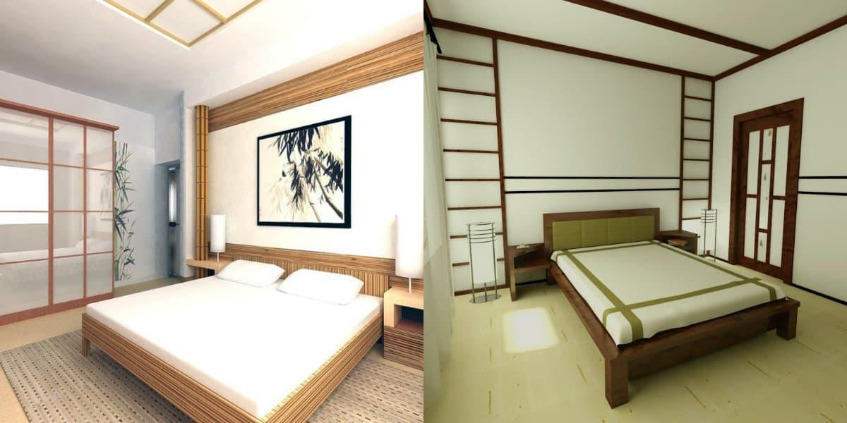 Спальня в японском стиле: светлый дизайн
