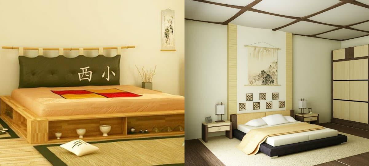 Спальня в японском стиле: потолок