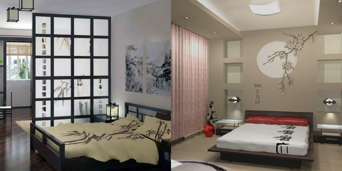 Спальня в японском стиле: перегородка
