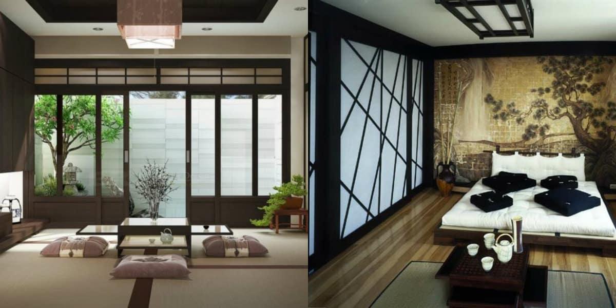 Японский стиль в интерьере: подушки