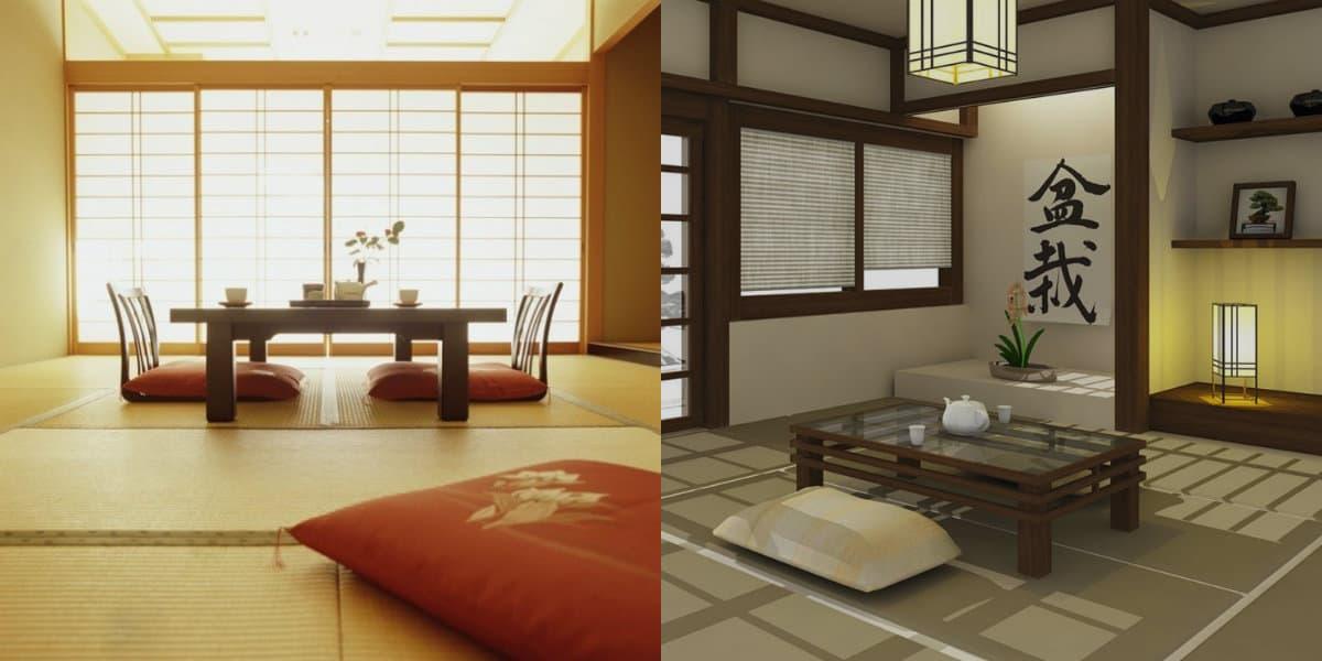 Японский стиль в интерьере: оформление окон