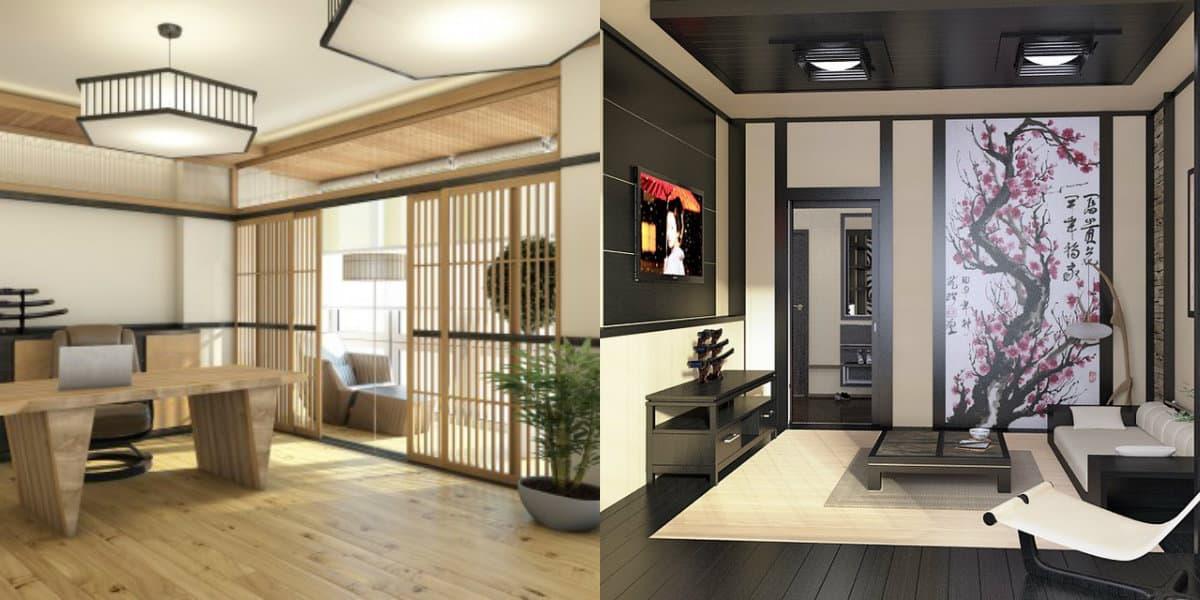 Японский стиль в интерьере: раздвижные двери