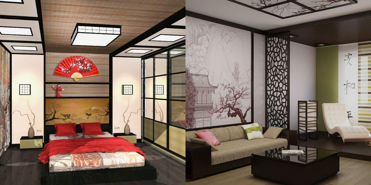 Японский стиль в интерьере: веера