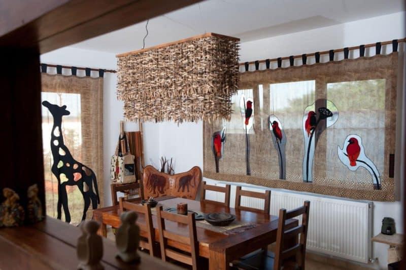 Африканский стиль в интерьере: гостиная
