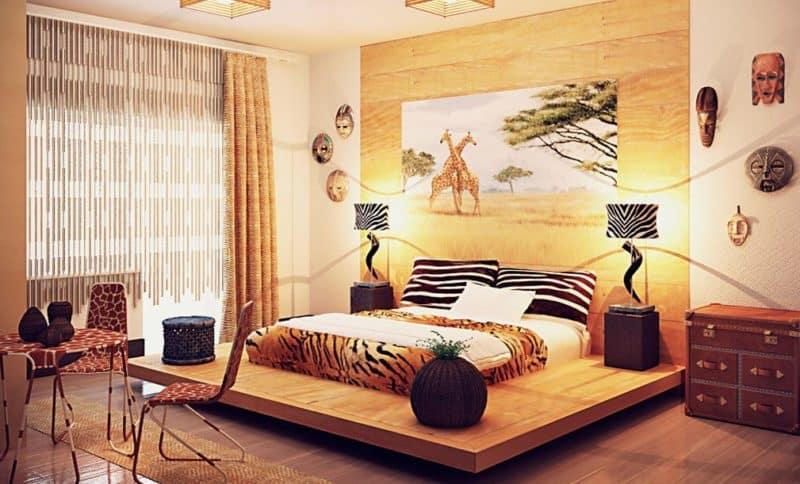 Африканский стиль в интерьере: кровать