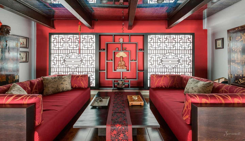 Восточный стиль в интерьере: гостиная