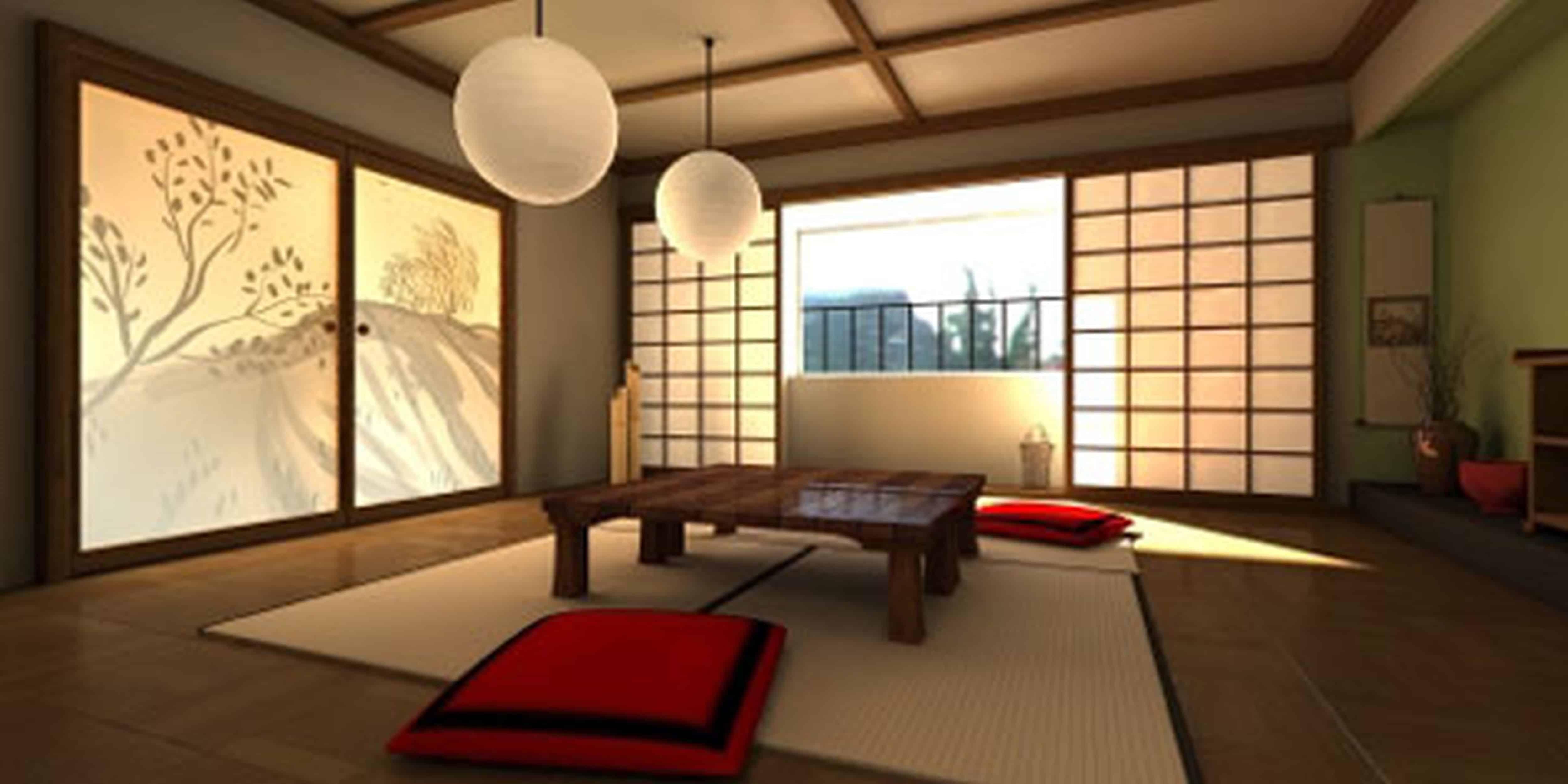Дизайн в восточном стиле: японская гостиная