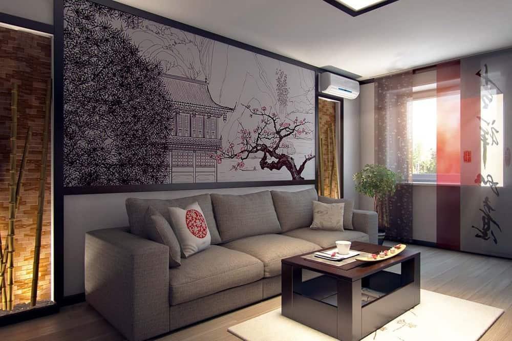 Дизайн в восточном стиле: гостиная