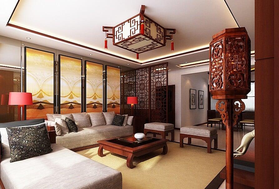 Китайский стиль в интерьере: светильник