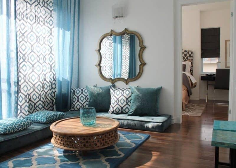 Марокканский стиль в интерьере: гостиная
