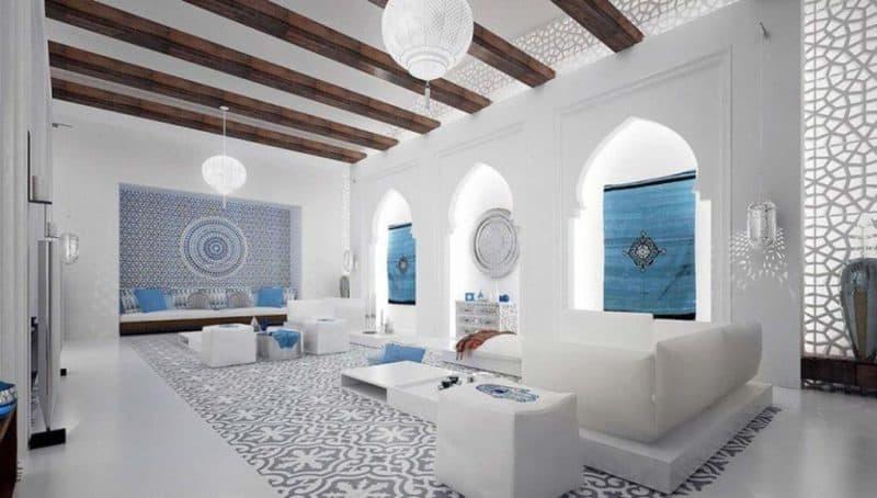Марокканский стиль в интерьере: белый дизайн
