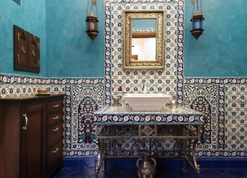 Марокканский стиль в интерьере: ванная