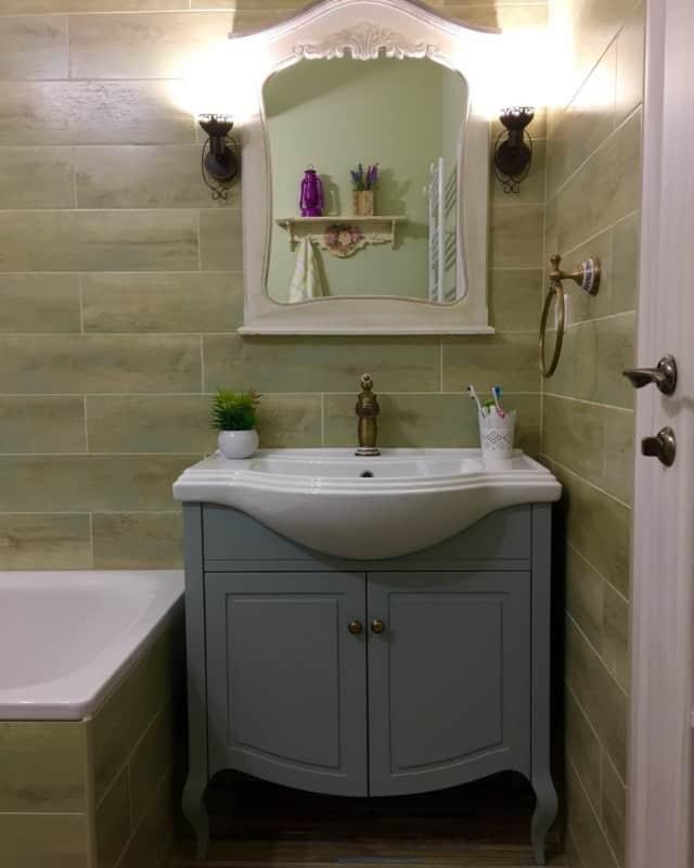 шебби шик в интерьере ванной