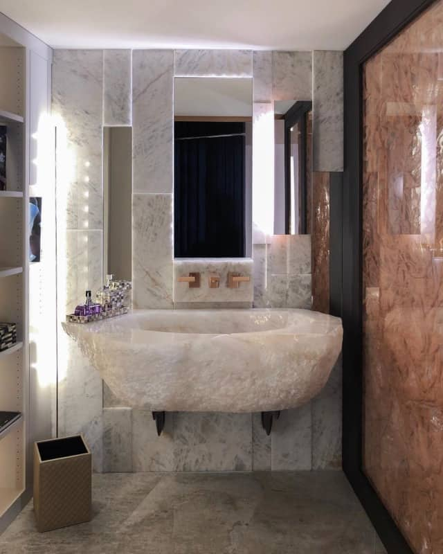 ванная-шебби-шик Шебби Шик плитка в ванной