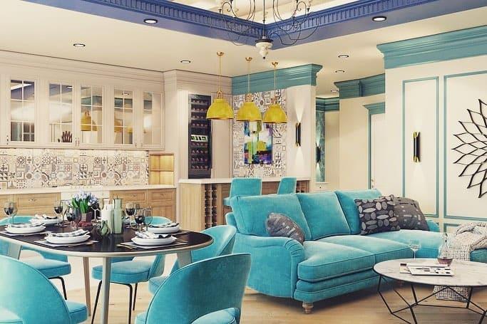 гостиная-в-средиземноморском-стиле