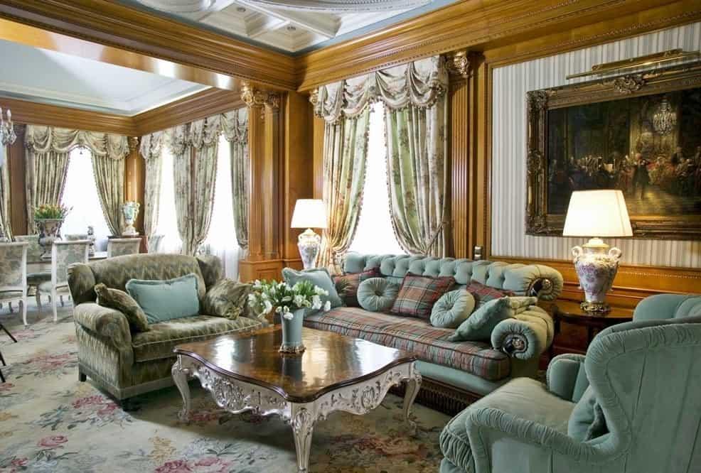 Викторианский стиль в интерьере: статусная гостиная