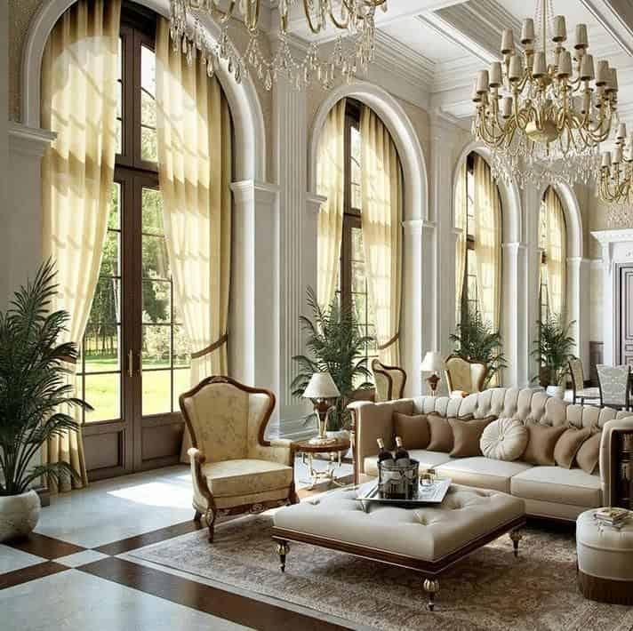 Викторианский стиль в интерьере: дизайн окон