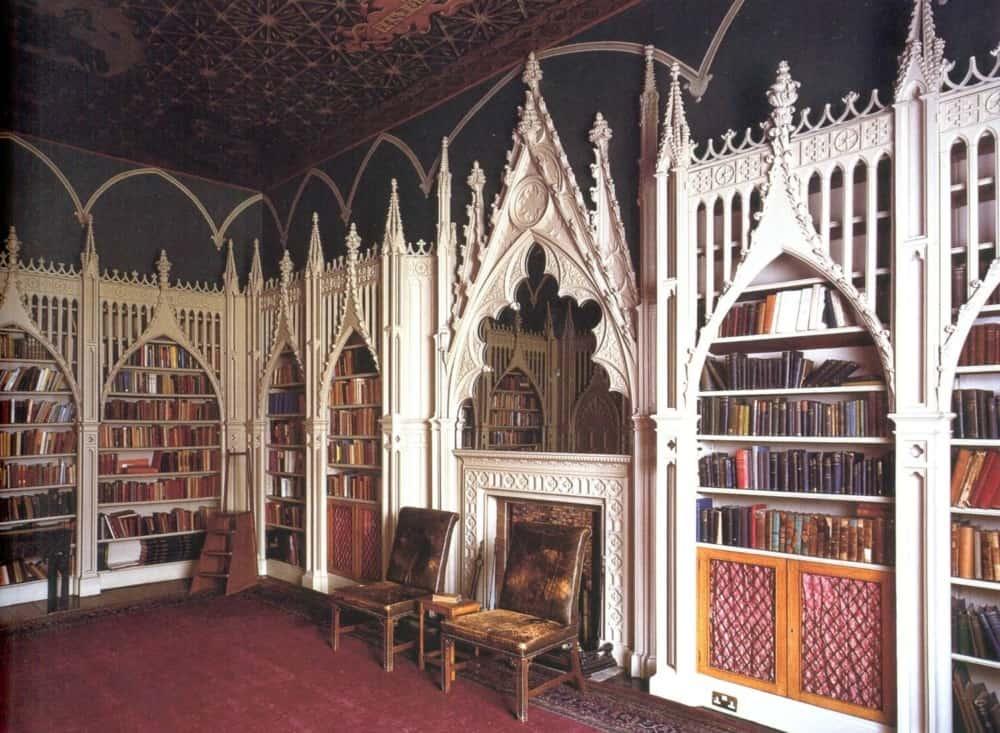 Готический стиль в интерьере: библиотека
