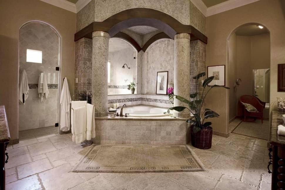 Греческий стиль в интерьере: ванная