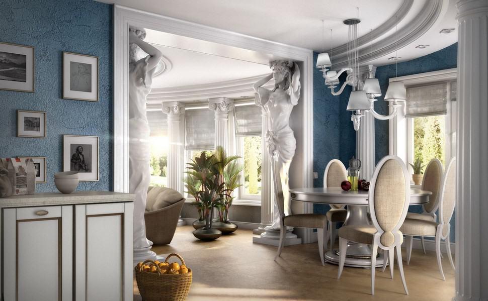 Греческий стиль в интерьере: скульптуры
