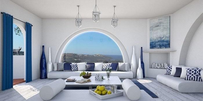 Греческий стиль в интерьере: средиземноморский дизайн