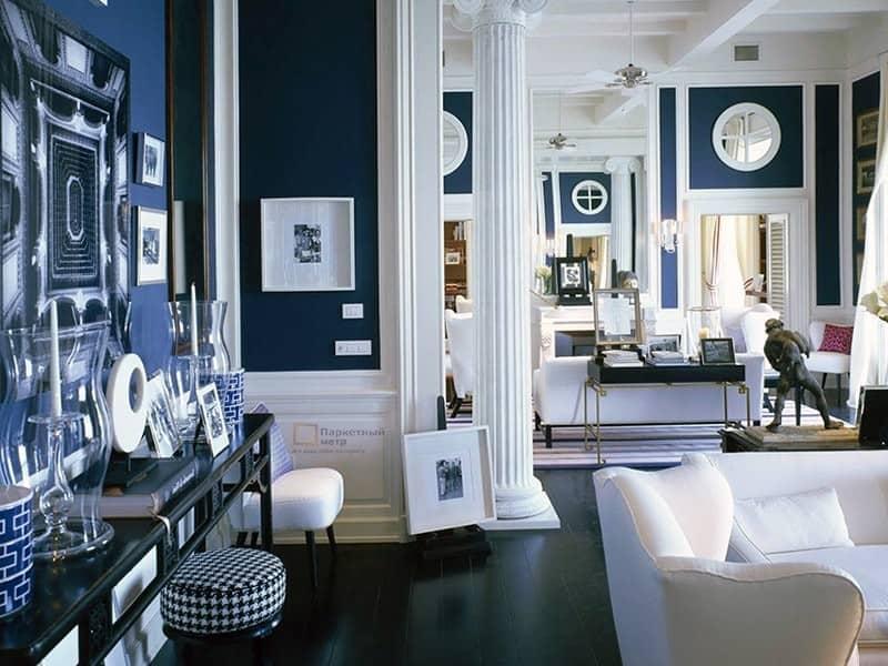 Греческий стиль в интерьере: гостиная