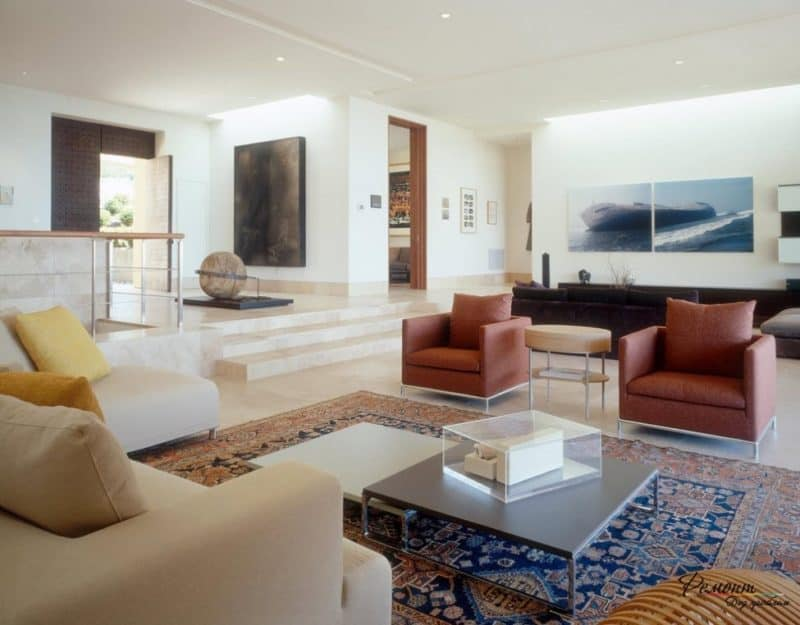 Контемпорари стиль в интерьере: мягкая мебель