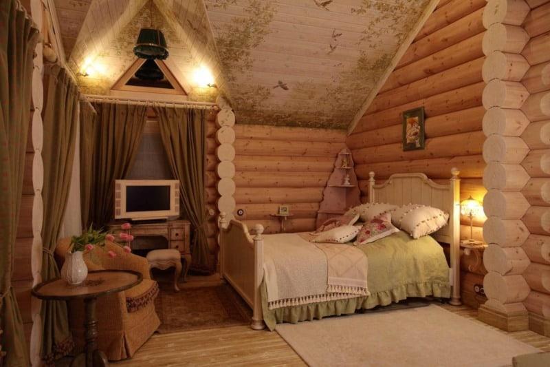 Русский стиль в интерьере: спальня