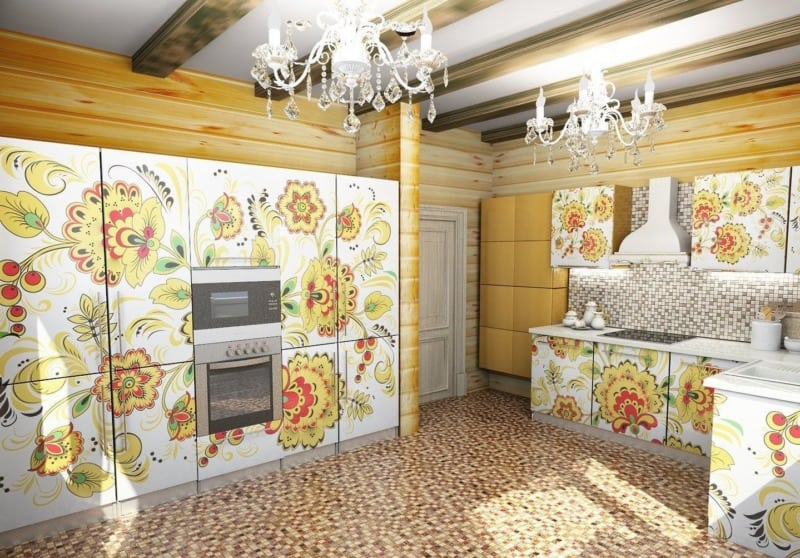 Русский стиль в интерьере: кухня