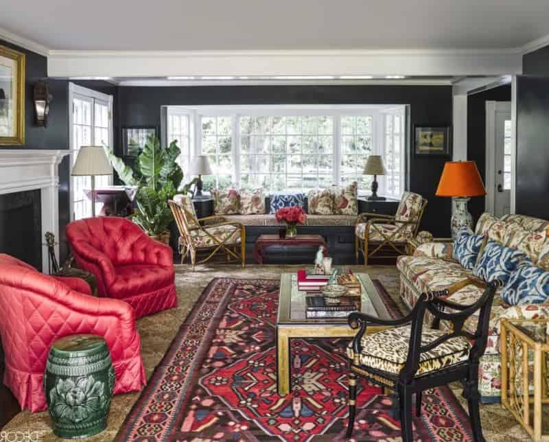 выглядеть стиль Бохо в интерьере: гостиная