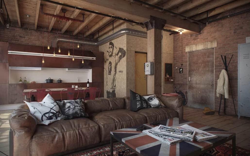Стиль Гранж в интерьере: мебель