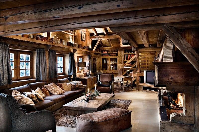 Стиль шале в интерьере: мебель