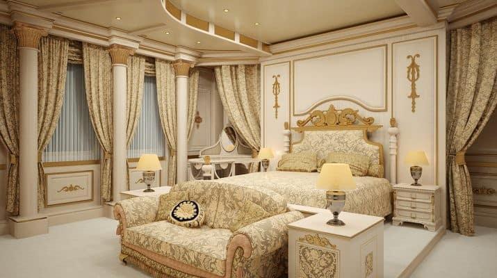 Стиль Ренессанс в интерьере: кровать