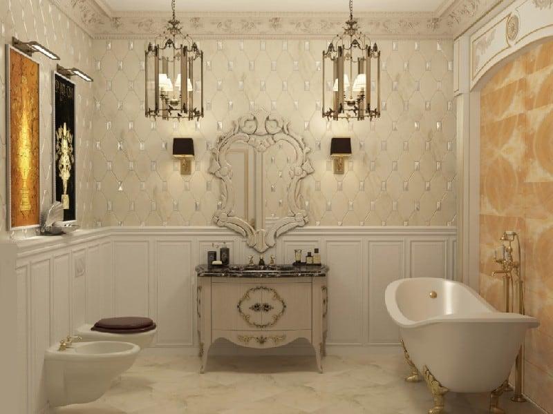 Стиль Ренессанс в интерьере: ванная